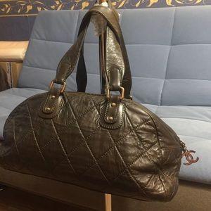 Chanel Vintage Matelasse CC Flap Logo Bag